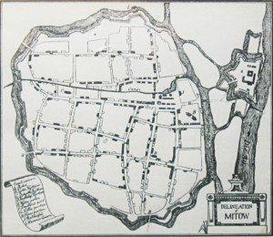 Senā Jelgavas karte