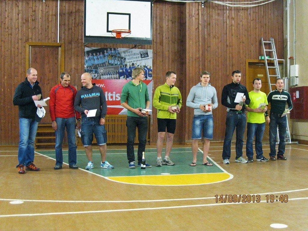 Vīru grupas (M) uzvarētāji Ķirzakas Takā 2013