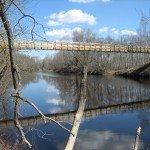 Gājēju tilts pār Iecavas upi