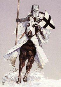 Livonijas ordeņa bruņinieks uz zirga