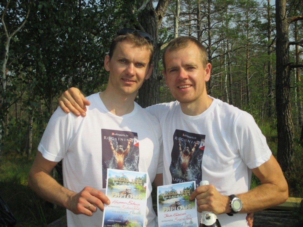Slapjais Kaķis 2015 uvarētāji: Kaspars Beķeris un Jānis Krūmiņš