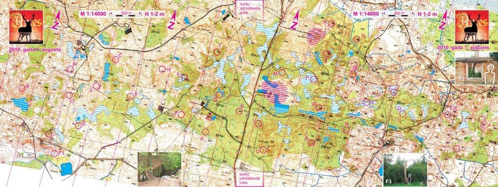 Auce Rogainings 2010_ topogrāfiskā karte