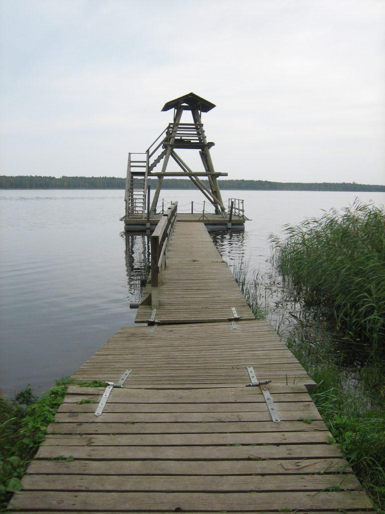Putnu vērošanas tornītis pie Slokas ezera