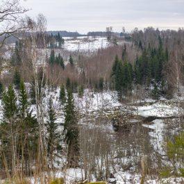 Kojasupes senlejas ainava ziemā